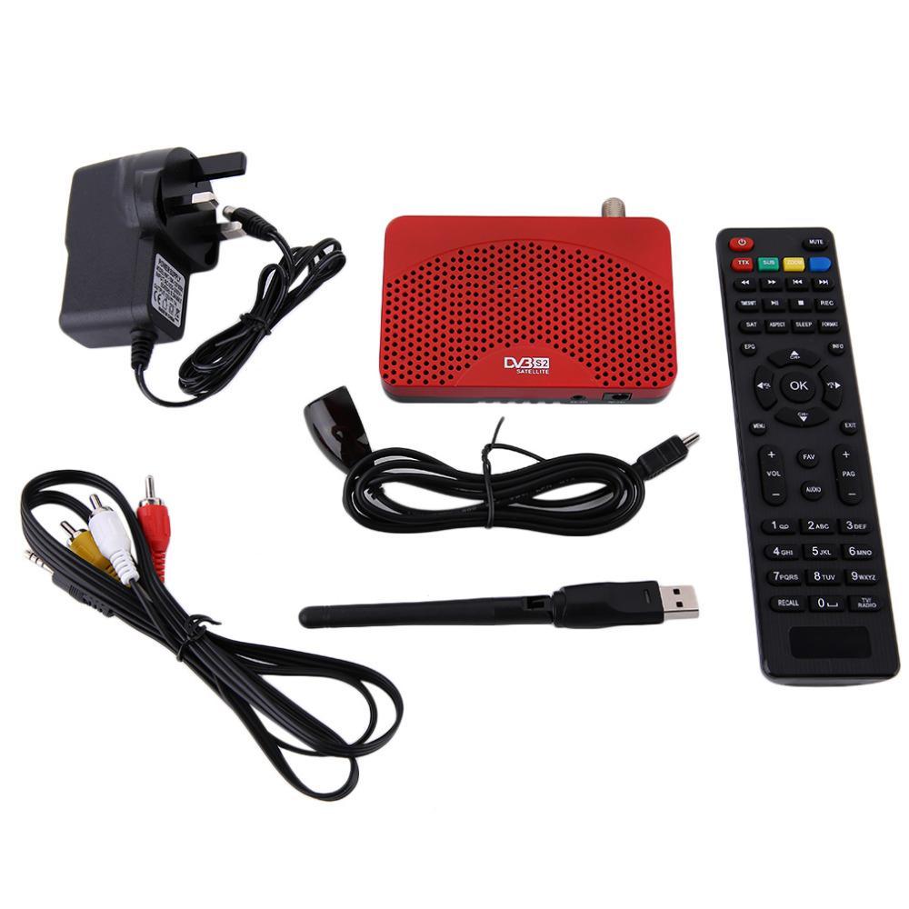 Бесплатная доставка мини размер цифровой 1080P DVB-S2 FTA приемник IKS видео кабель Cccam интернет мощность VU PVR запись EPG + 5370 USB Wi-Fi