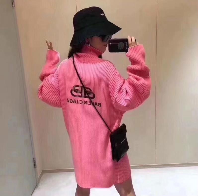 2020 Mulheres pullover solta malha mangas compridas de moda outono pôsteres Casual Turtle Neck Sweater Top