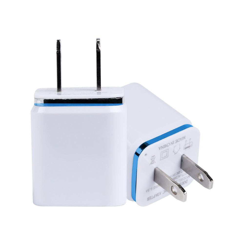 Cargador double USB para Móvil 5V2.1A / 1A UE US adaptador de toma de Corriente de Pared pour iPad iPhone Samsung HTC 2 de celulares de puer