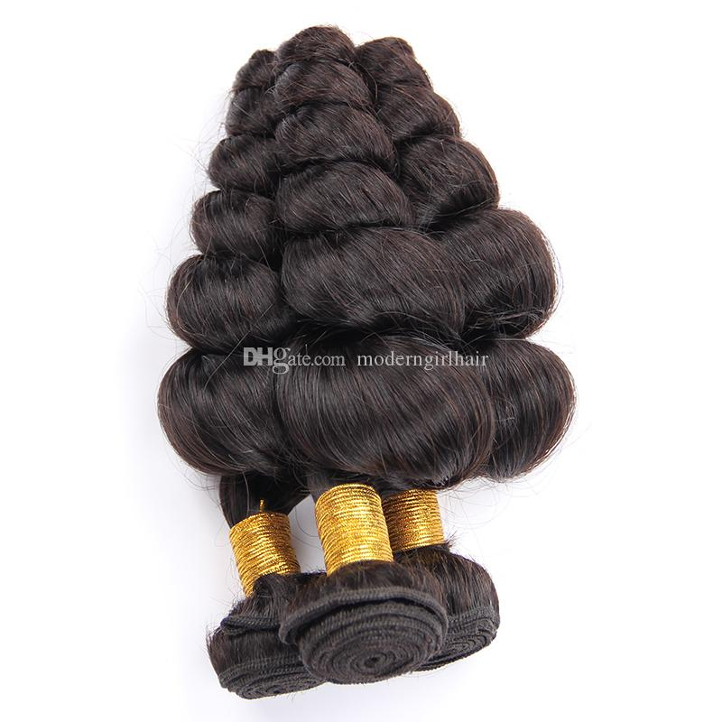 indian Loose Wave Black Bundles Human Hair Weave Nicelight 1 Bundle Hair Weave Single Bundles 1/3/4 Bundle Deals Hair Vendors