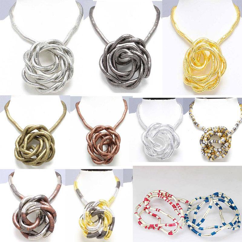 5mm 90cm Iron Flexible Twisted Jewelry Bendable Snake Necklace 20 Colors Available