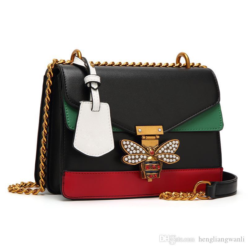 2019 nouveau sac à main de sac à main à glissière de mode sac mosaïque couleur dames classique casual sac Messenger épaule