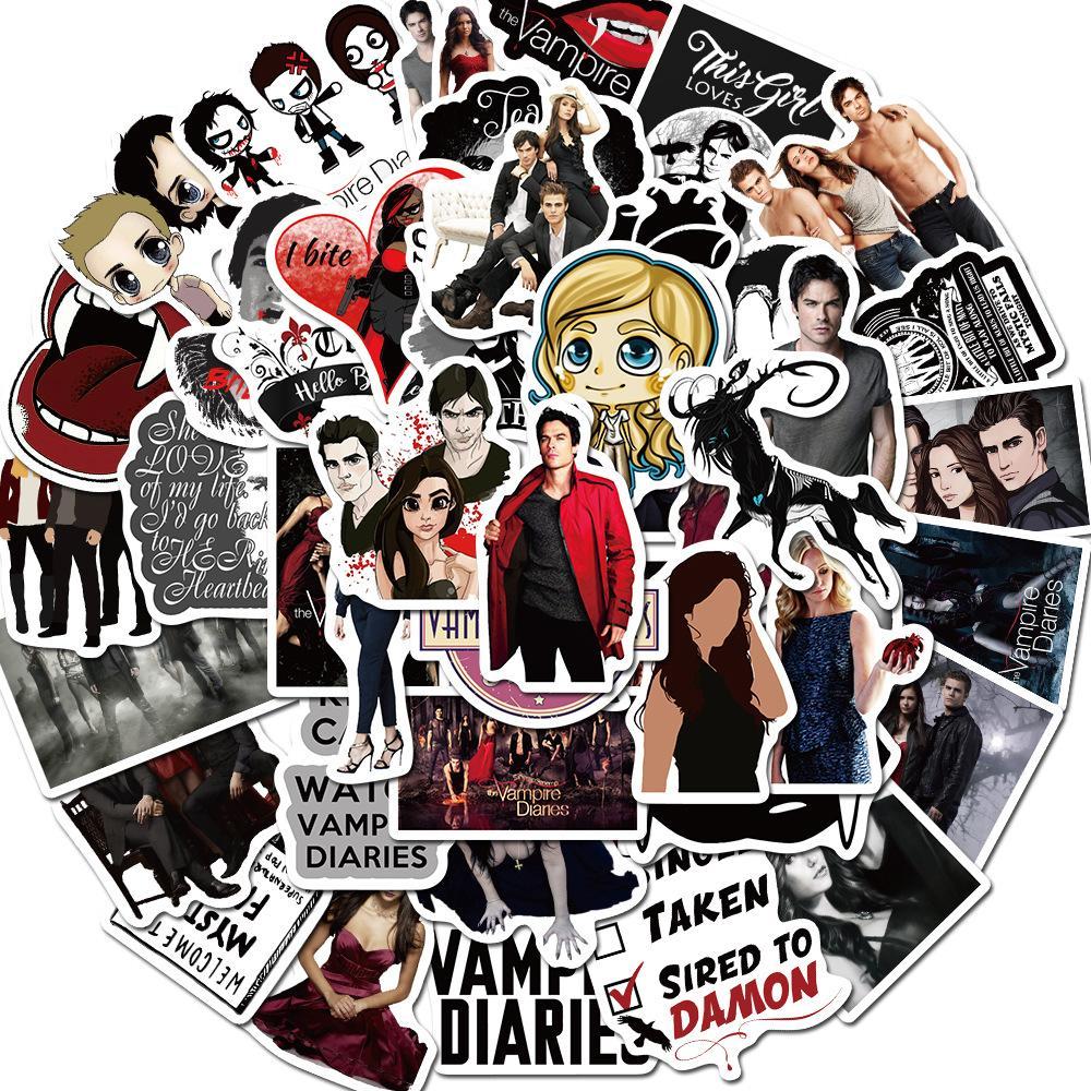50 adet Kaykay Moda marka Logo Vampire Su geçirmez Sticker için Bagaj Arabası Guaitar Kaykay Telefon Laptop Bisiklet Moto Çıkartma