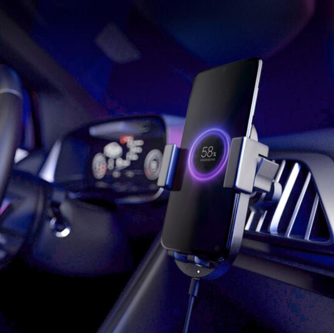 ZMI coche inalámbrico cargador de 20W de alta velocidad de carga rápida de carga del coche del soporte del teléfono móvil, aplicable a Xiaomi de Apple Huawei y otros móviles
