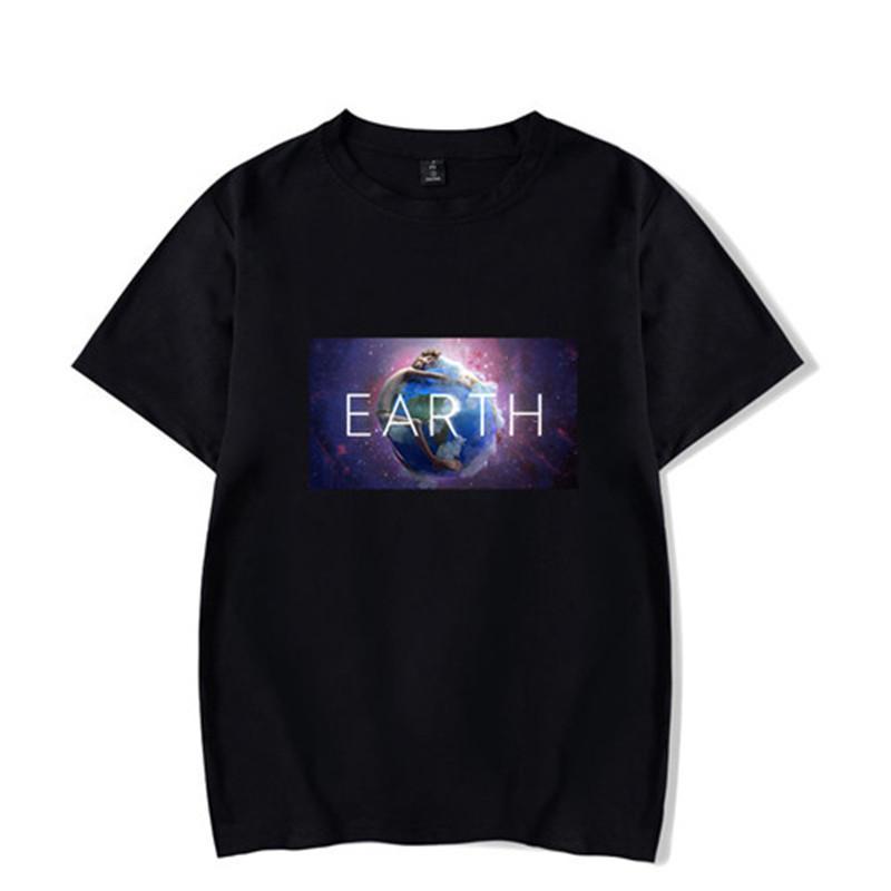 T-shirts do pescoço de grupo Lils New Songs Imprimir Causel Moda Masculina Roupa Selvagem Tees Terra Mens Verão
