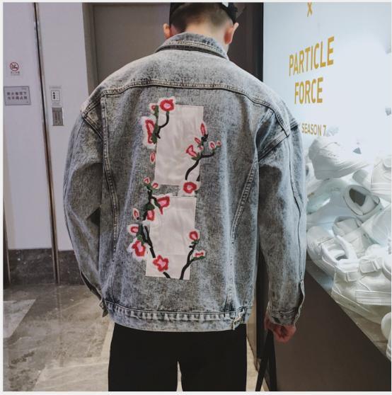 Gli uomini del progettista denim 2020 del rivestimento dei nuovi per Letter Autumn Spring Fashion risvolto del collo Fiori Giacche Top Brand Vintage coppia Streetwear