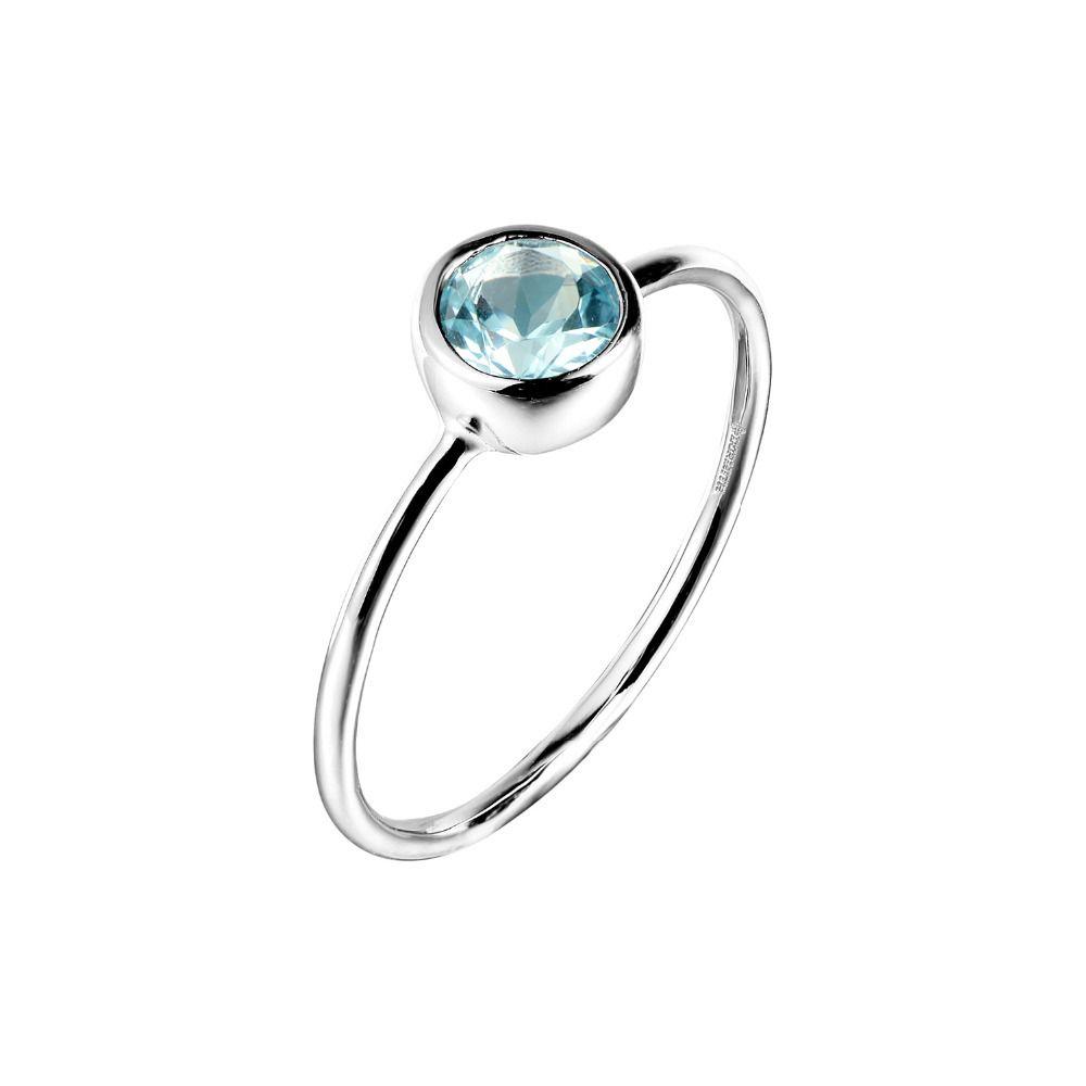 DORMITH verdadeira 925 anel de prata esterlina naturais anéis de topázio azul gemstone anéis para as mulheres jóias anéis V191220