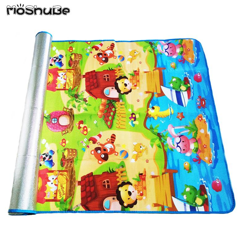 180*120*0.3cm Baby Crawling Play Puzzle Mat Children Carpet Toy Kid Game Activity Gym Developing Rug Outdoor Eva Foam Soft Floor LY191216