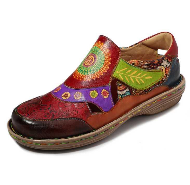 2020 Frühling neue beiläufige nationale Art Brock Fringe Leder Mode Schuhe Damenschuhe Sapato Feminino sfy28