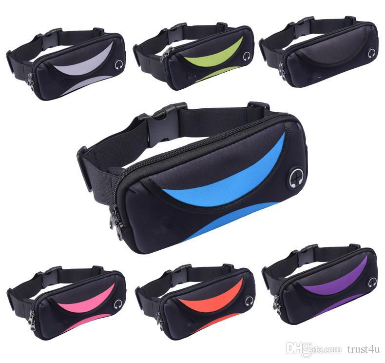 Universale 7 pollici impermeabile di sport di funzionamento di ginnastica del sacchetto della cassa della cinghia di vita pacchetto Telefono impermeabile fascia da braccio per iPhone X 8 7 5 6 7 8 6s più