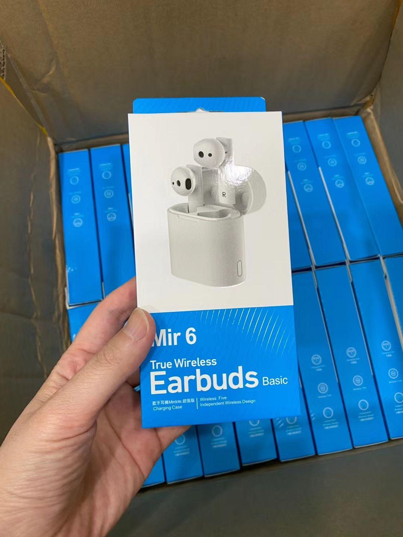 Earbuds Earphones for Xiaomi Redmi Wireless Earphones Air 5.0 Mir 6 TWS Wireless Bluetooth Earphone with Mic HD Sound For Huawei Xiaomi
