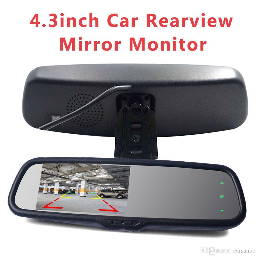 4.3 بوصة سيارة مرآة الرؤية الخلفية مراقب للرؤية الليلية HD مواقف السيارات عكس نظام كاميرا للرؤية الخلفية السيارات
