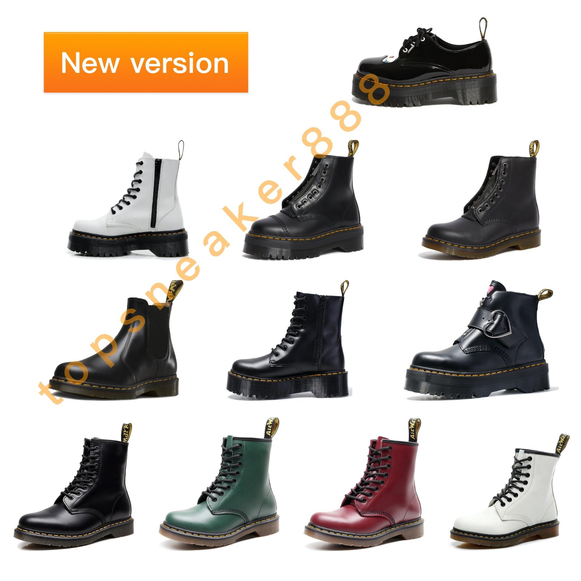 Dr Martins 2976 Человек Boots Женщины Boots Черный Белый Красный 1460 SINCLAIR SMOOTH ЖЕНСКОЙ КОЖИ ПЛАТФОРМЫ Boots ЕС 35-46
