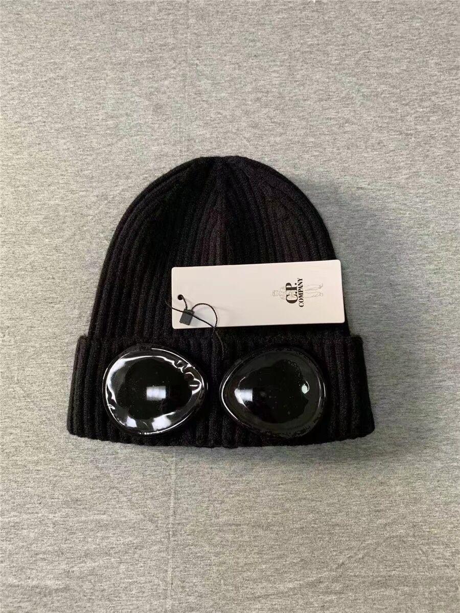 CP Company Шапочки Glasses сП шапки осень зима на открытом воздухе теплые шапки черепа случайных мужчин Шапочки черный серый синий 3-х цветов