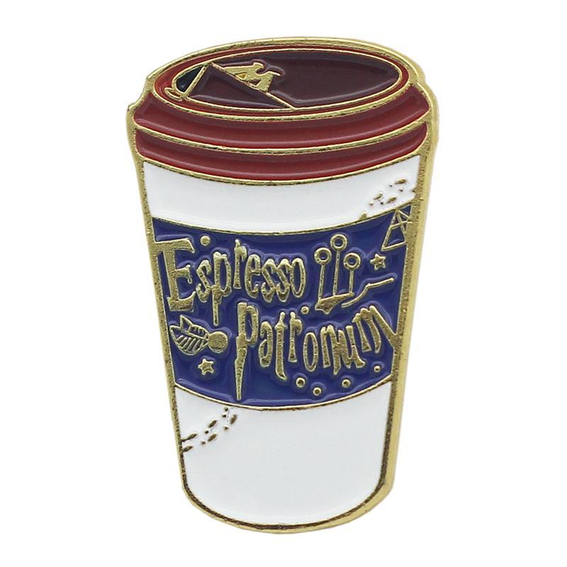 2020 tazza di caffè di moda distintivo pin abbigliamento decorativo zaino accessorio di metallo di modo distintivo all'ingrosso