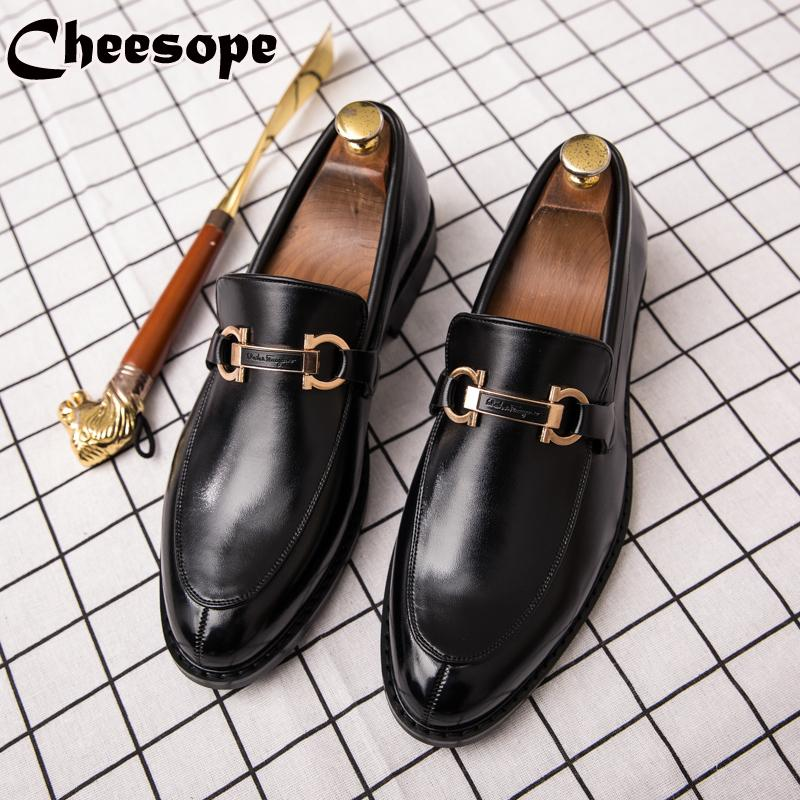 Men Dress Shoes High end Italian Style Fashion Men Formal Shoes Trend Plus Size Business Leather