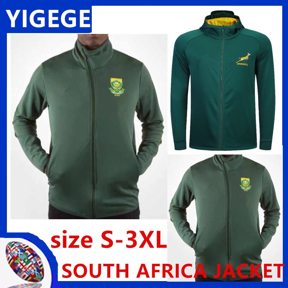 2020 África do Sul Rugby Jersey JAQUETA nacional equipe Hoodies Sul Africano Hoodie Jacket ÁFRICA DO SUL DOS HOMENS DO REVESTIMENTO Tamanho S-3XL