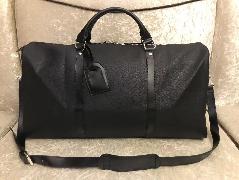 54CM سعة كبيرة حقائب النساء الرجال السفر الشهيرة الكلاسيكية 2019 جديد حقائب الرجال مصمم الكتف من القماش الخشن تحمل الأمتعة 25