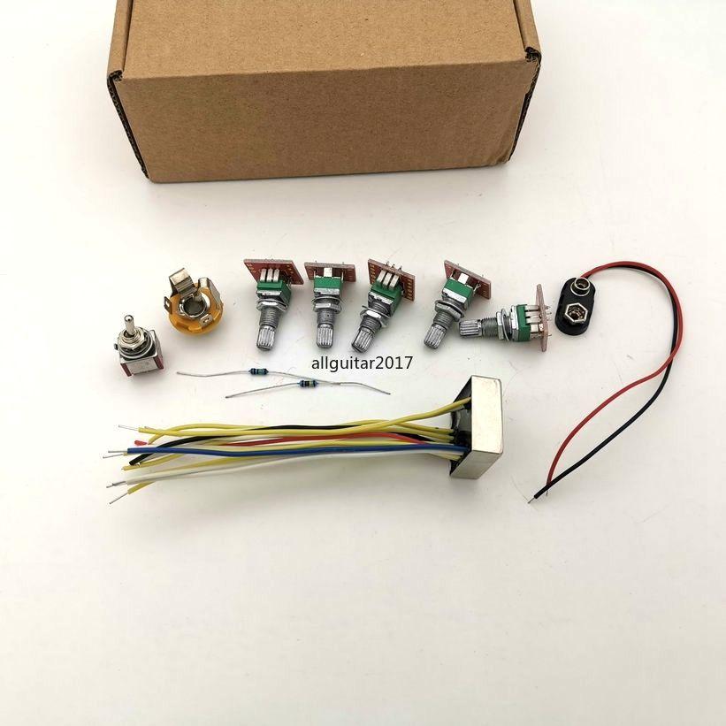 ديلوكس B3A نموذج 3 فرقة PREAMP / نغمة تحكم مع Swithabte منتصف تردد الكهربائية باس النشط PREAMP أسلاك باس أجزاء الغيتار