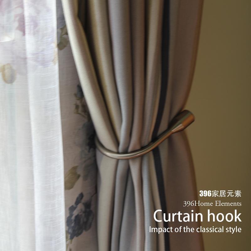 Home Hardware Curtain Tieback European Wall Hook Curtain Buckle, U - Shaped Curtain Hooks Buckle Accessories Handle Feel Y19062803