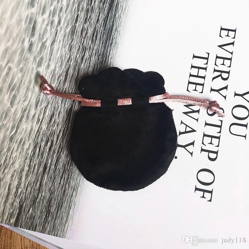 الشريط الوردي المخملية السوداء حقائب صالح الأوروبي باندورا نمط الخرز سحر وأساور القلائد والمجوهرات الأزياء قلادة الحقائب بالجملة