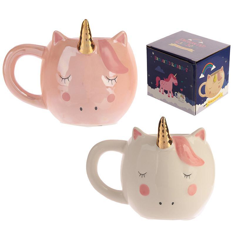 New Unicorn Cups Cute Cartoon Coffee Milk Cup Ceramic Kids Water Mugs Home Office Breakfast Ins Mug Drop Shipping
