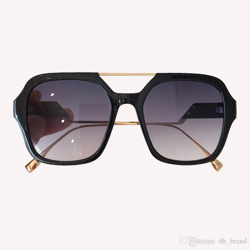 2019 Übergröße Männer UV400 Vintage Frame Gradient Sonnenbrille Gradient Frauen Neue Farbtöne Quadrat 0363 / S XRFSO