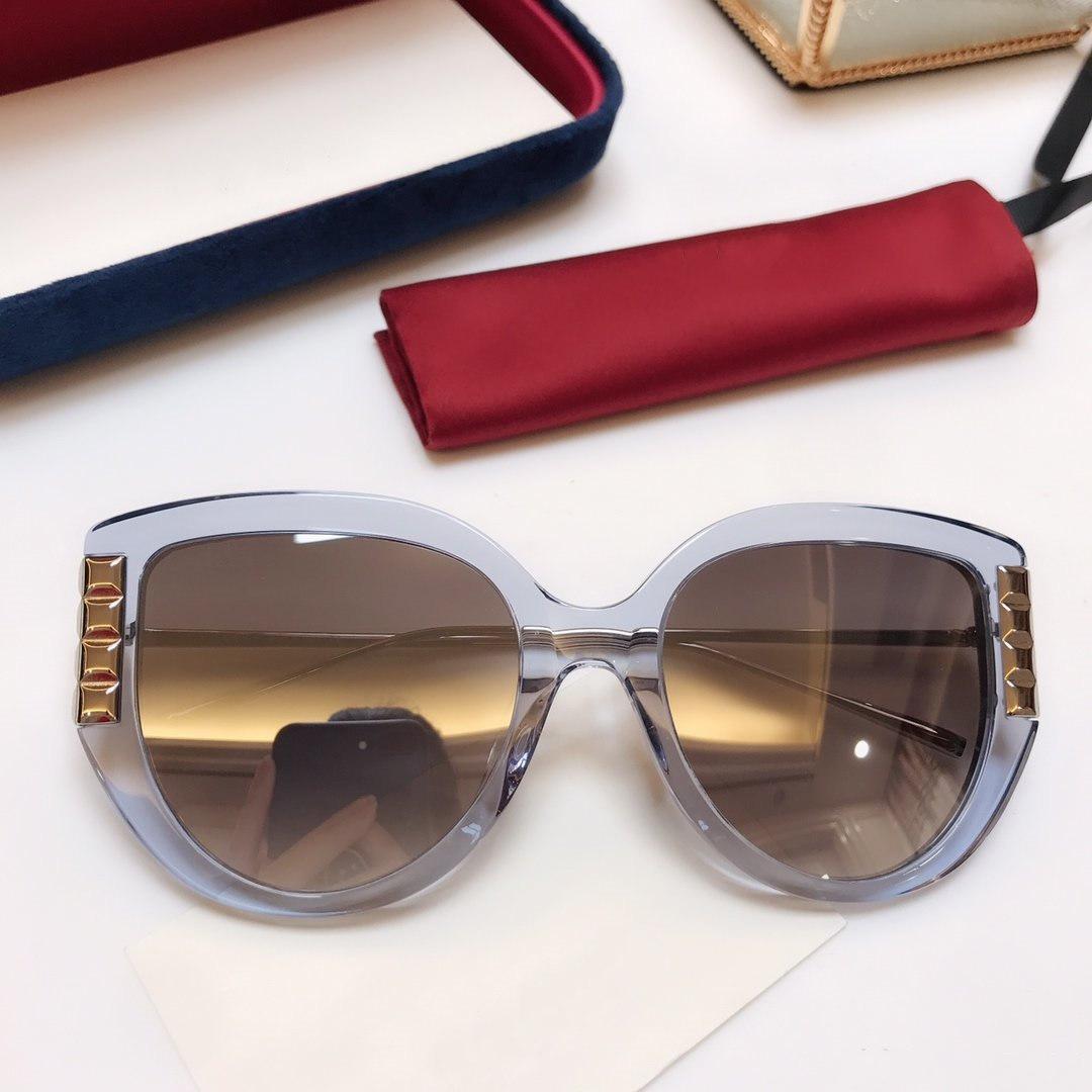 Designer de alta qualidade G0389 óculos de sol de luxo óculos de sol marca de moda para a mulher de vidro do retângulo Driving UV400 Adumbral com caixa