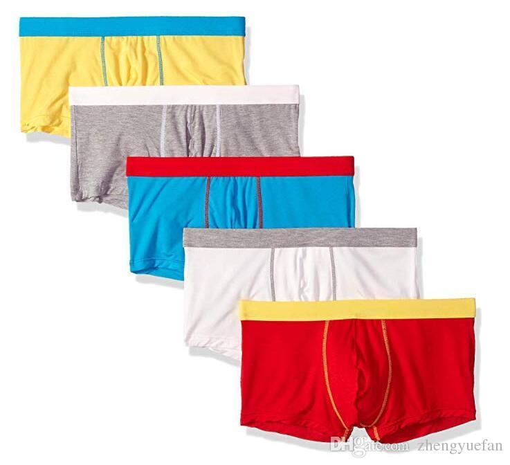 سراويل سراويل الرجال مشروط جذوع منخفضة الارتفاع الملونة