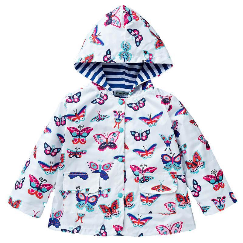 Childrens Coat Girls Cute Solid Color Windproof Rain-Proof Charge Windbreaker Girls Raincoat/Windbreaker