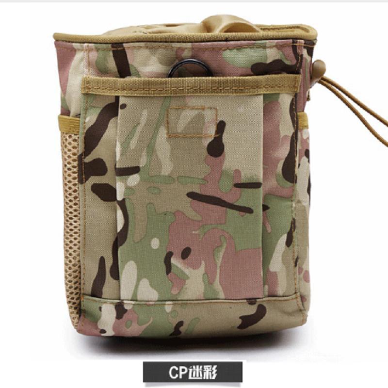 Taktik geri dönüşüm torbası MOLLE depolama çantası kamuflaj kartuş bel mühür aksesuarı