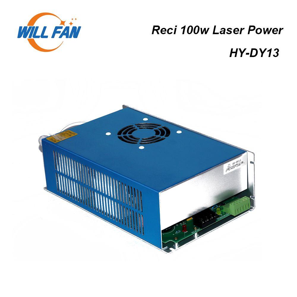 Will Fan Reci DY13 100W Laser Co2 d'alimentation pour Gravée au laser machine. 100W Power Box pour Reci W4 S4 Laser Tube