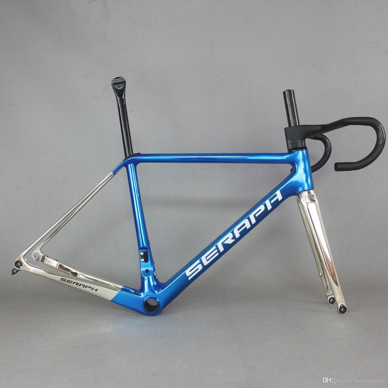 Tantan Carbon Cadre Nouveau T1000 Poids léger Carbon Road Disc Cadre Vélo Vélo Full Internal Cables FM639