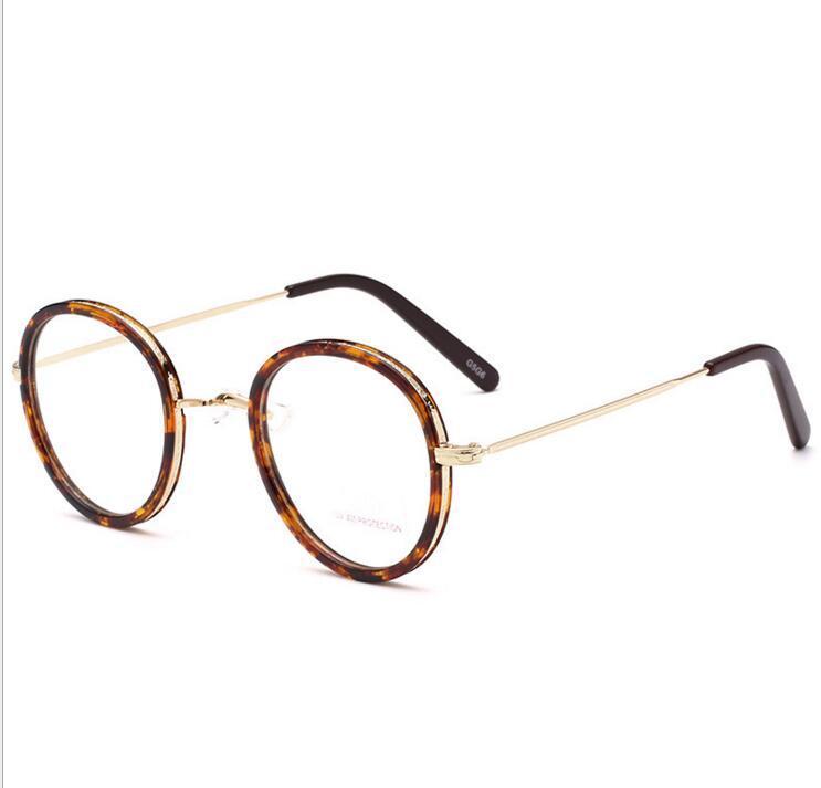 ماركات عالمية- نظارات شمس الجولة مربع مسطح باستخدام المد استعادة سبل الرجال والنساء عام هان طبعة نظارات شقة الأزياء الديكور القديم