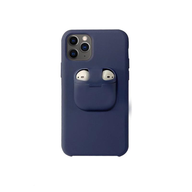 Silikongehäuse mit Apple Airpods Schutzabdeckung Innovation für iPhone 11 PRO MAX XS XR 6 7 8 Plus 6s