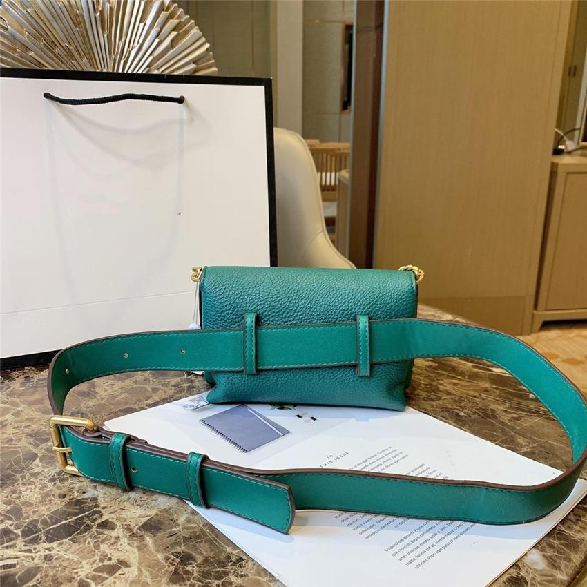 дизайнер роскошные сумки на пояс многоцветной мода женщин дизайнер сумки высокое качество леди мода цепи сумки