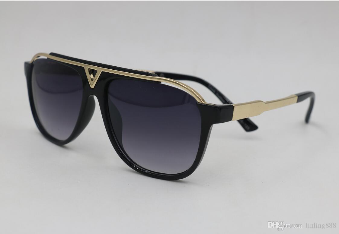 NUEVA alta calidad califican los vidrios de Sun Evidencia de sol Lentes Gafas para mujer para hombre pulido negro gafas de sol 2019