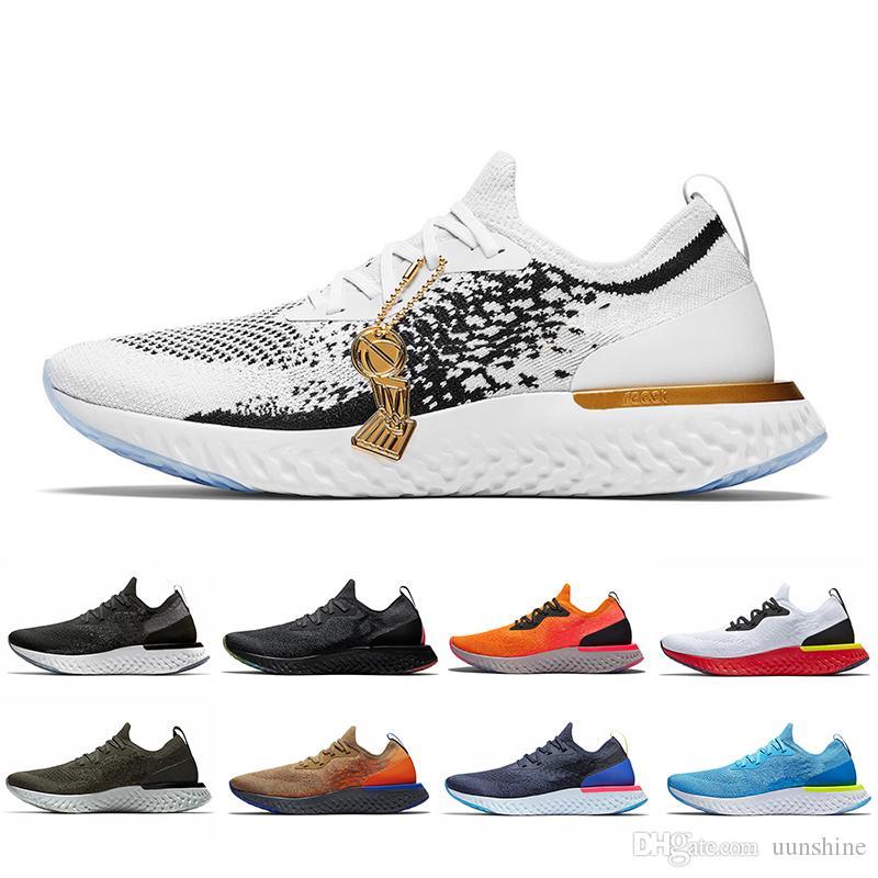 2019 Sıcak Yeni Epic Anında Tepki S0UTH unisex Koşu ayakkabıları Erkekler Belçika gerçek Olabilir Racer Mavi Platin Kadınlar Atletik Spor Sneakers 36-45