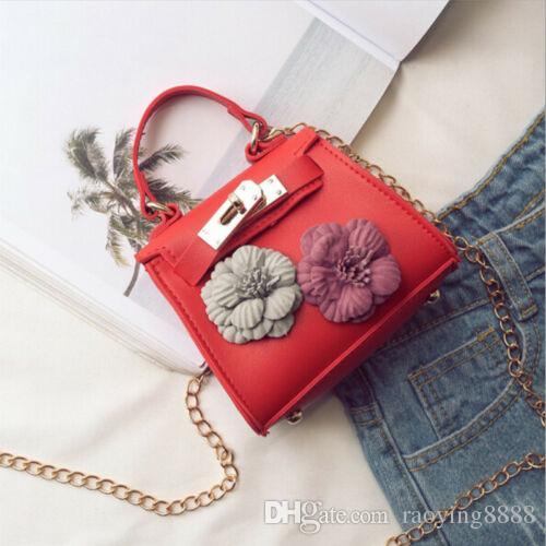 Ladies' Simple Mini Floral Handbag Shoulder Bag Chain Messenger Crossbody Bag US