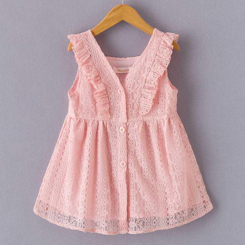 여자 드레스 2020 여름 소녀 키즈 파티 드레스 귀여운 자수 활 디자인 여자를위한 공주 1-6Y 어린이 의류