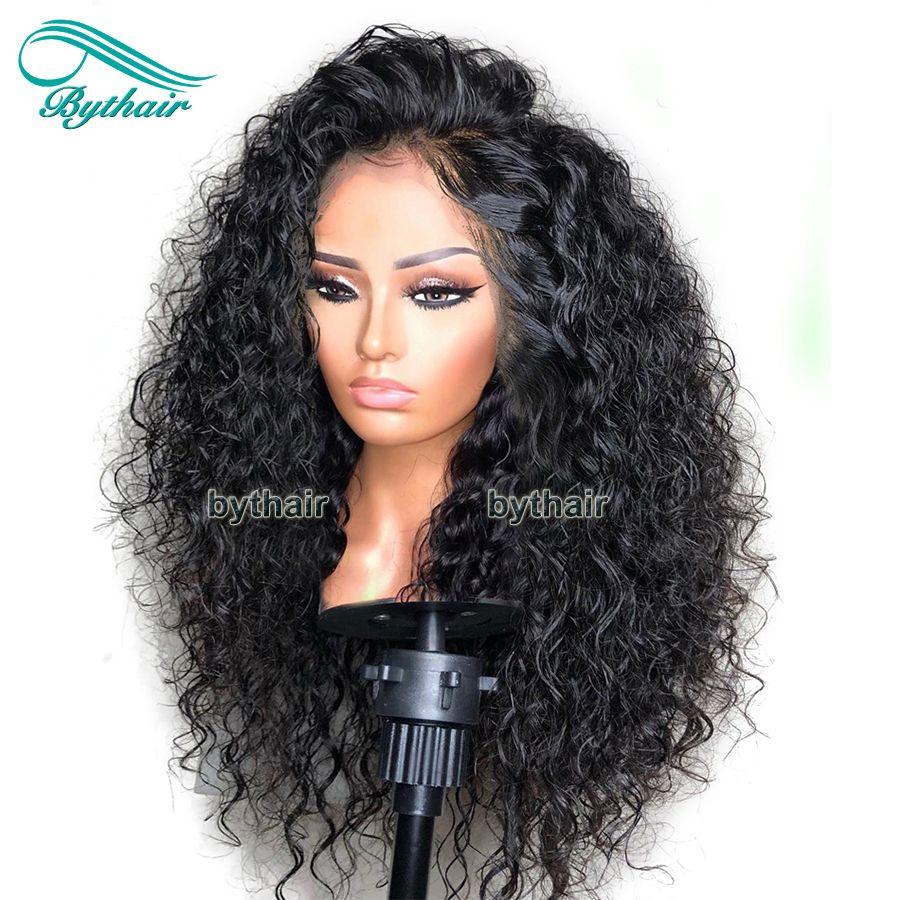 Brasilianische Jungfrau-Menschenhaar-volle Dichte 360 Lace Frontal Perücke Curly Pre Zupforchester 13x4 Lace Front Perücken schwarze Frauen mit Baby Haare
