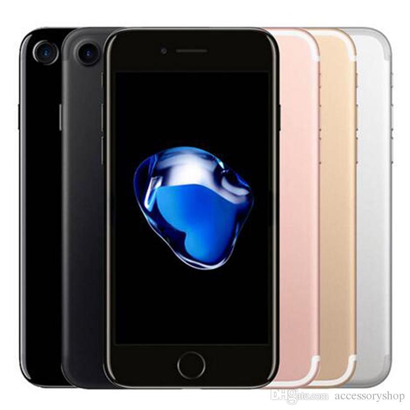 تم تجديده الأصلي Apple iPhone 7 4.7 بوصة بصمة ios a10 رباعية النواة 2 جيجابايت رام 32/128/228 جيجابايت rom 12mp مقفلة 4 جرام lte الهاتف dhl 1 قطع
