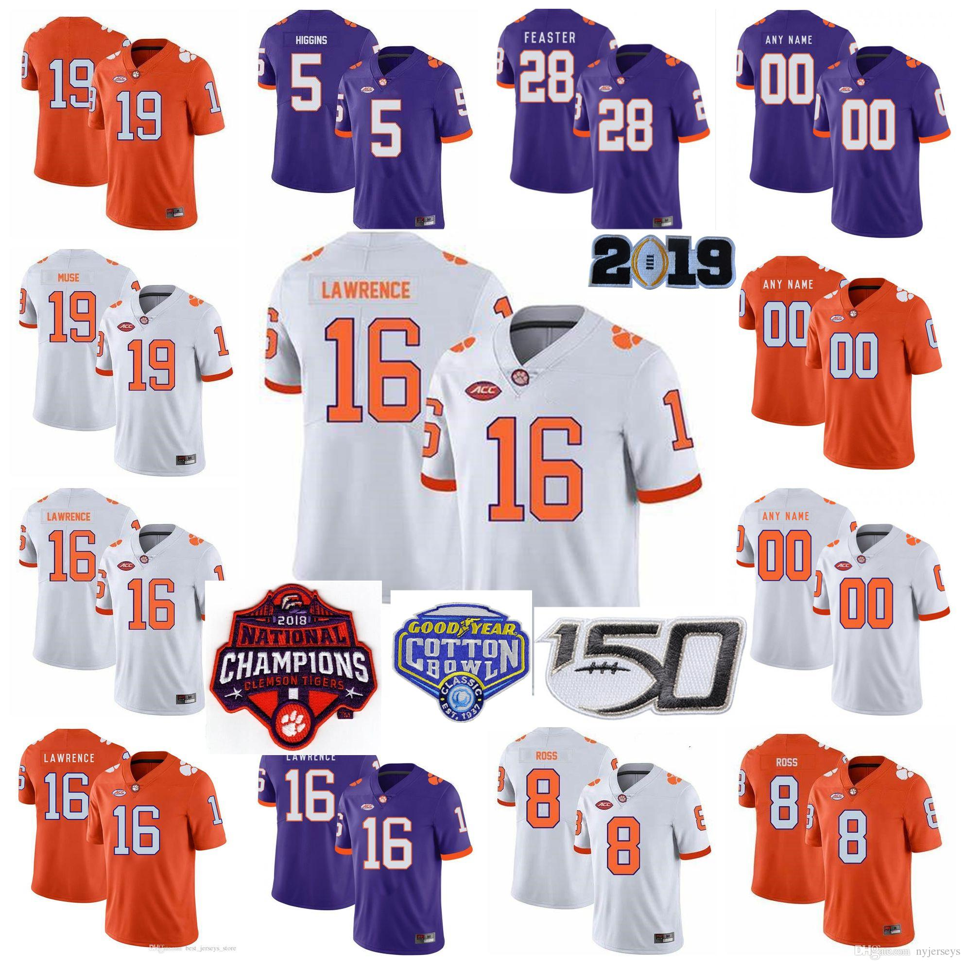 2021 NCAA Clemson Tigers Jerseys Jersey Isaiah Simmons Chase Brice ...