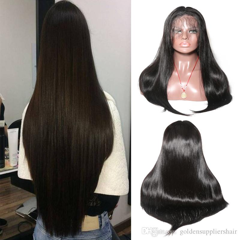 Human Hair Wigs Lace Front Brazilian Malaysian Indian Straight Hair 13 By 6 Inches Lace Wig Remy Human Hair Wigs For Womens