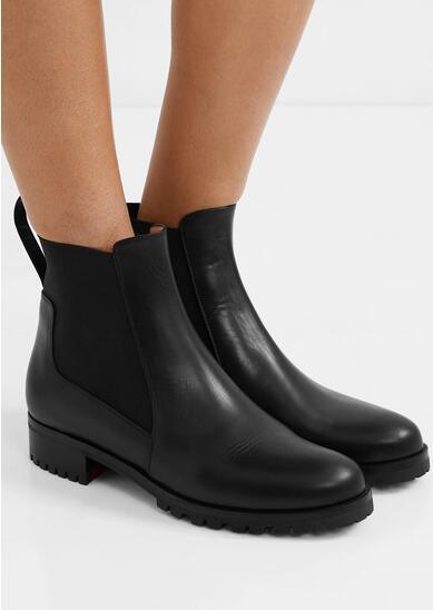Kış Moda Lug Sole Kırmızı Alt Machcroche Bilek Boots Kadınlar Ganimet Siyah Hakiki Deri Bayan Çizme Kırmızı Sole Patik Ücretsiz Kargo