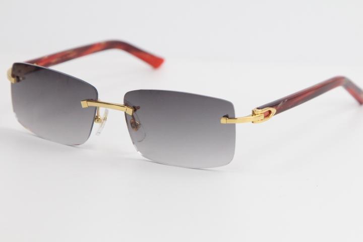 2020 새로운 판매 림없는 대리석 빨간색 판자 선글라스 8200757 패션 고품질 안경 큰 사각형 선글라스 남성과 여성 운전