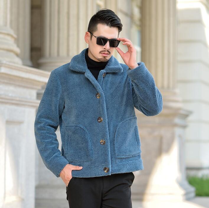 Giacca in pelle faux di autunno mens inverno addensare calda pelliccia uomini cappotto di pelle sciolto giacche Jaqueta de Couro moda B144