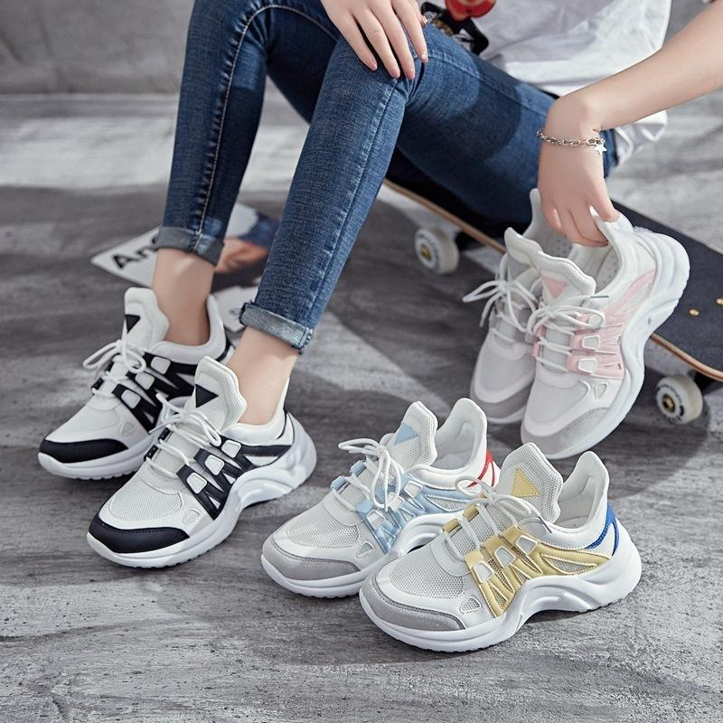 2019 Spring New Pattern Dad Shoe Women Shoes Will Code 43 Korean Shoes Student Leisure Time Sneakers Small White Shoes Woman Mens Casual Shoes
