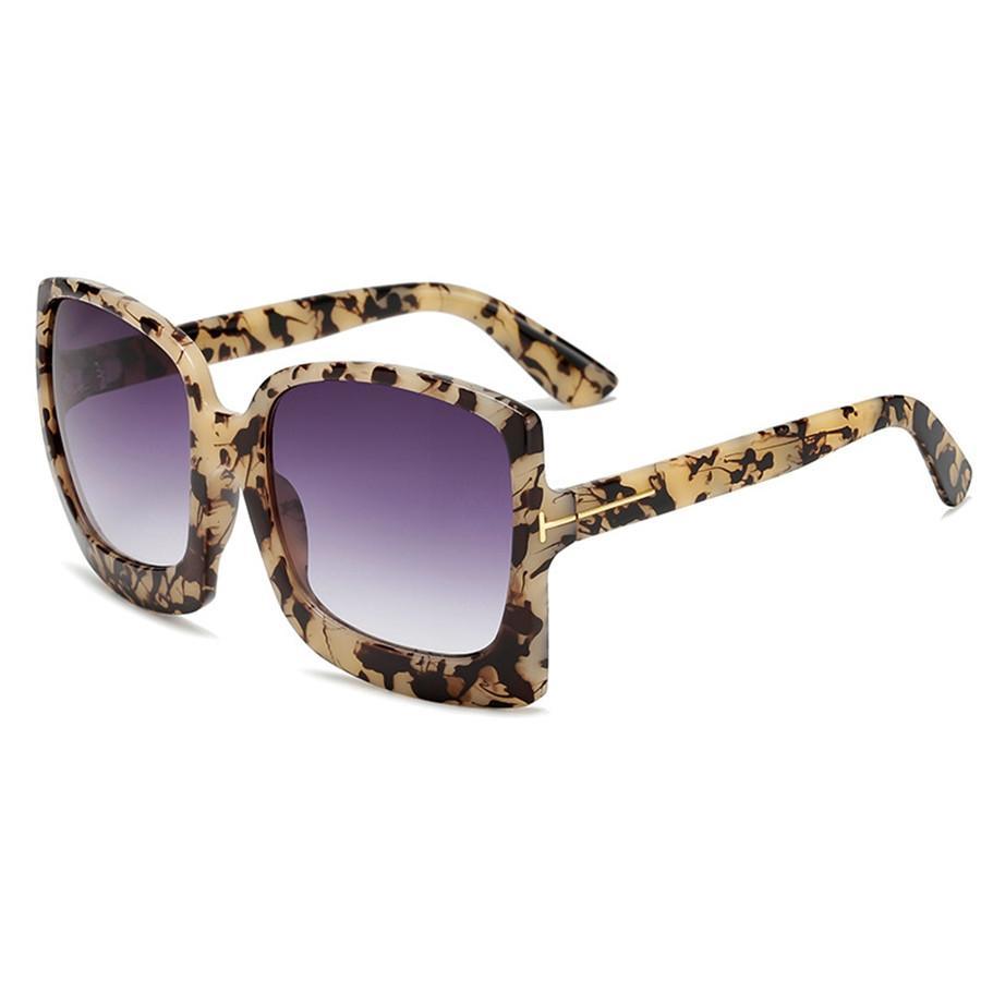 10 Marco 1Pcs color de la mezcla de las mujeres de moda las gafas de sol de conducción de la tortuga de Brown del oro de los hombres de 51 mm semi-sin montura de la lente de los vidrios de Sun con la caja # 79154