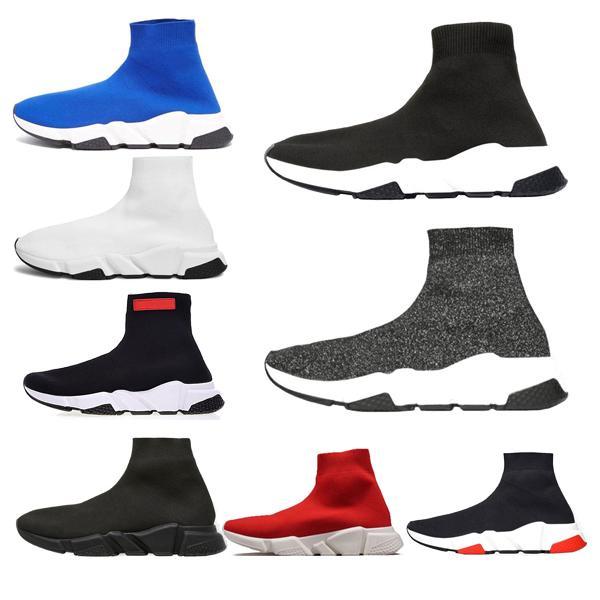 NUEVO Diseñador de lujo Moda Hombres Wave Runner Mujeres Zapatillas de deporte casuales calcetines chaussures para hombre scarpe zapatos hommes femmes Speed Trainer shoef330 #